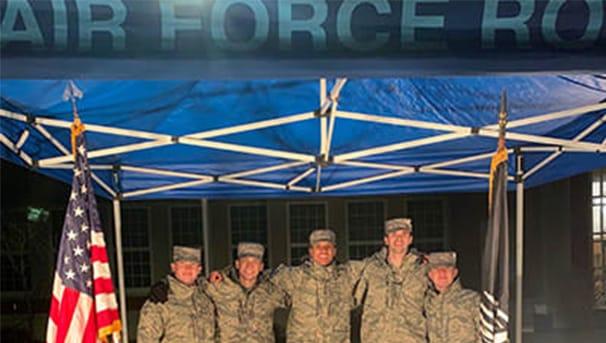 Air Force ROTC students at senior vigil