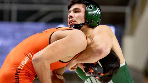 photo of OHIO wrestler and opponent