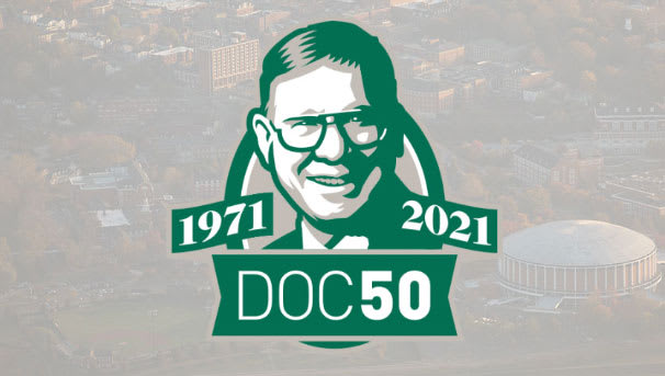 logo image for Doc50 - honoring Higgins' 50 years of teaching at OU