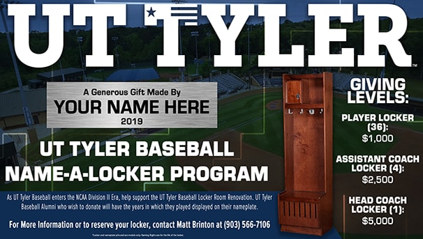 Name-A-Locker | UT Tyler Baseball Image