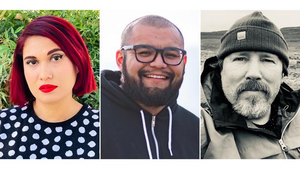 Author photos of Monique Quintana, Joseph Rios, and Brian Turner.