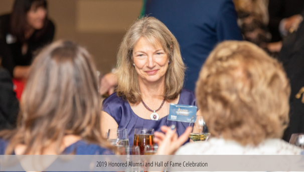 Anne at 2019 Honored Alumni and Hall of Fame Celebration