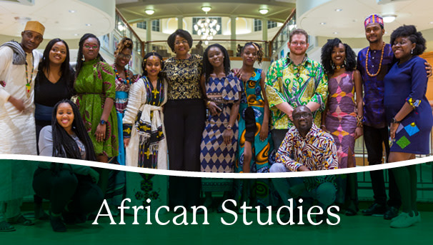 image of African Studies students in Baker Center in Athens, Ohio
