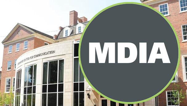 photo of Schoonover Center with MDIA logo over the door