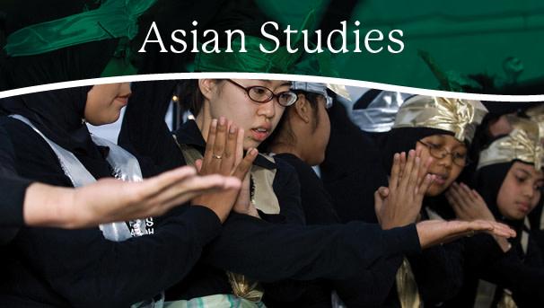 image of OHIO students with Asian Studies headline over the photo