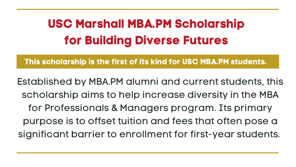 Marshall MBA.PM Building Diverse Futures Scholarship Image