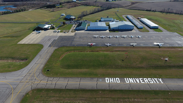 photo - Aerial view of the OU Airport in Albany, Ohio