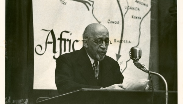 W. E. B. lecturing on Africa, 1956