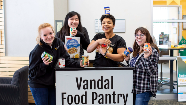 The Vandal Food Pantry aids students facing food insecurity during this difficult time