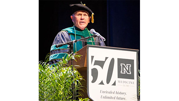 Dean Schwenk at 50th Anniversary Commencement