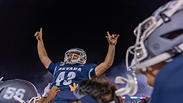 Football player celebrating