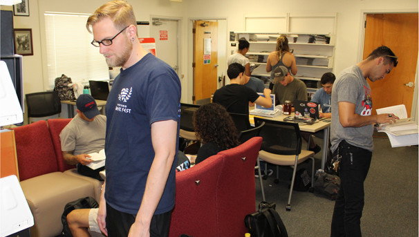 Students utilizing the valuable resources in the V. E. Petrucci Library