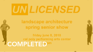 Landscape Architecture Fifth-Year Show