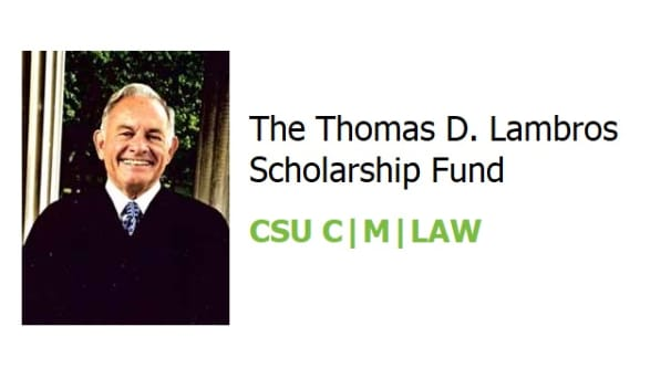 The Thomas D. Lambros Scholarship Fund Image