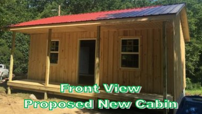 Proposed New Cabin - Front View