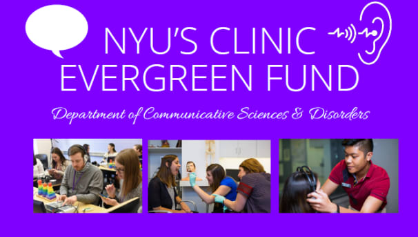 NYU CSD Clinic Evergreen Fund Image