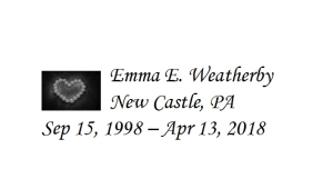 Emma Weatherby Memorial Bench