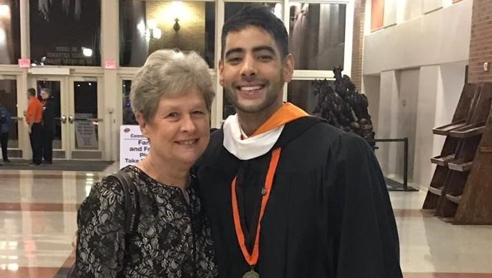 Regina Henry & former student Enmanuel Gomez Antolinez