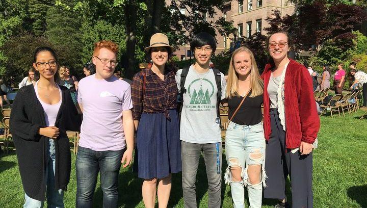 International Student Ambassadors on Old Main Lawn