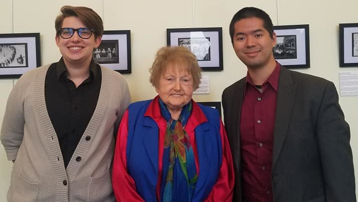 Thomas B. Yee (Composer) and Aiden K. Feltkamp (Librettist) interviewing Eva Mozes Kor