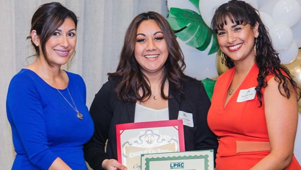 Hilda Solis Scholarship Recipients at Award Ceremony