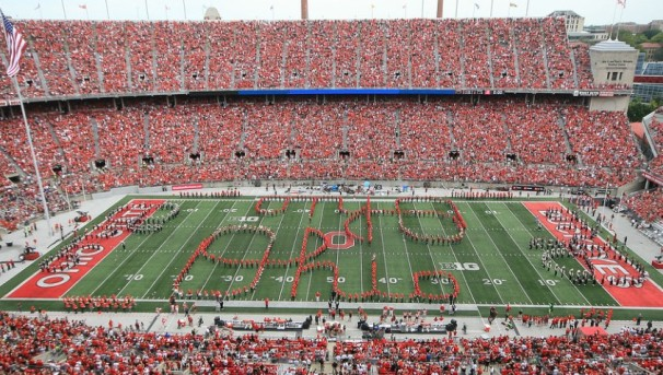 TBDBITL performing at an Ohio State home football game