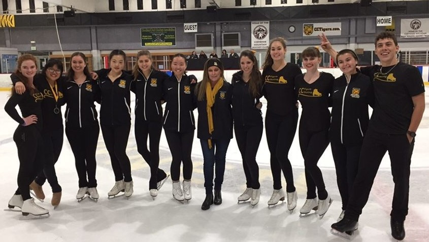 The team with Olympic champion Peggy Fleming