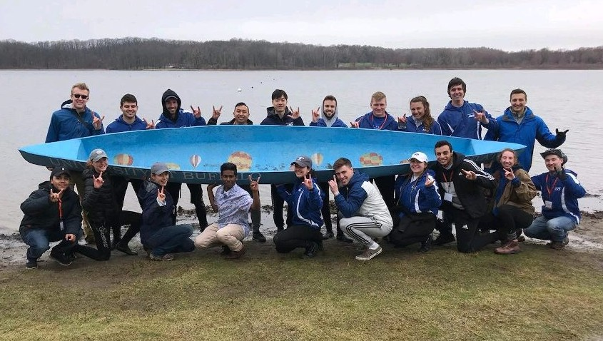 Concrete Canoe team at regionals 2019