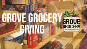 Grove Grocery Giving: A Holiday Fundraiser for the UM Food Pantry