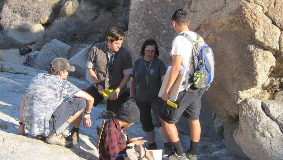 Dr. Memeti with students at Joshua Tree.