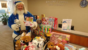 Blue Santa Virtual Toy Drive