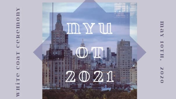 NYU OT White Coat Ceremony Class of 2021 Image