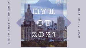 NYU OT White Coat Ceremony Class of 2021