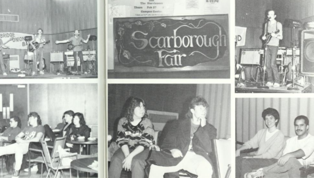 Collage image of black and white yearbook photos