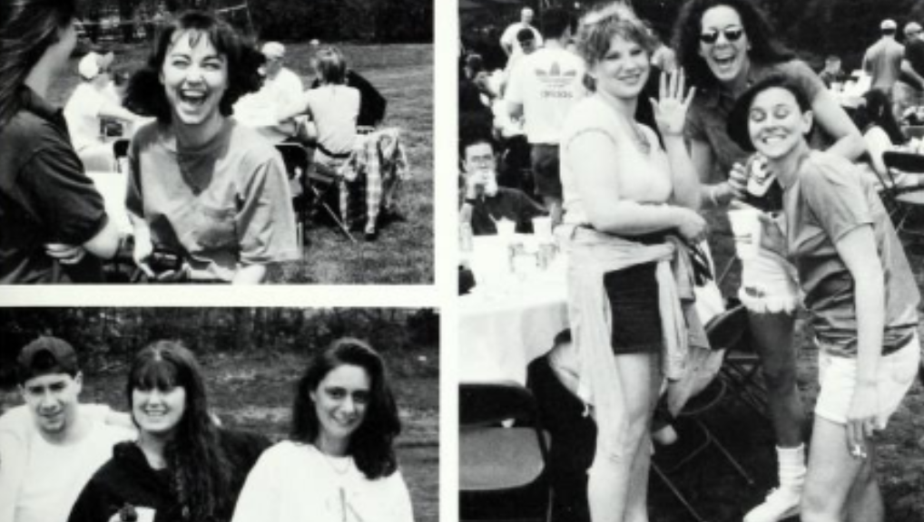 Collage image of black and white yearbook photos.
