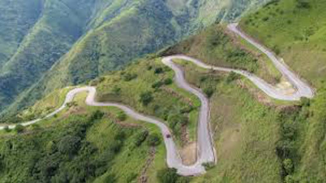 A winding road to Obudu Mountain - Nigeria
