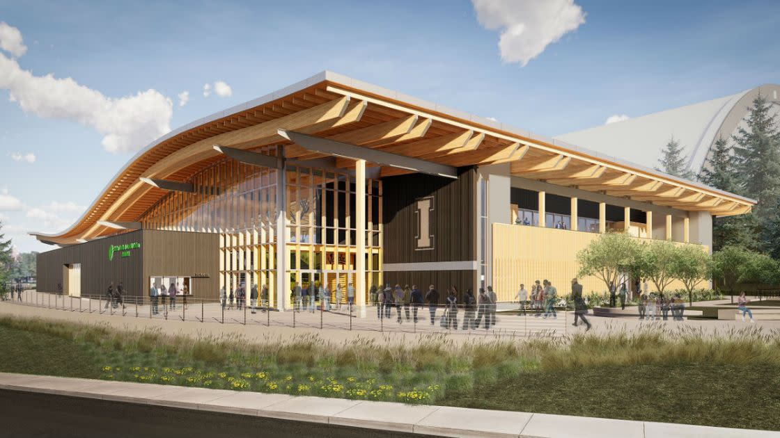 ICCU Arena - Northwest Entrance