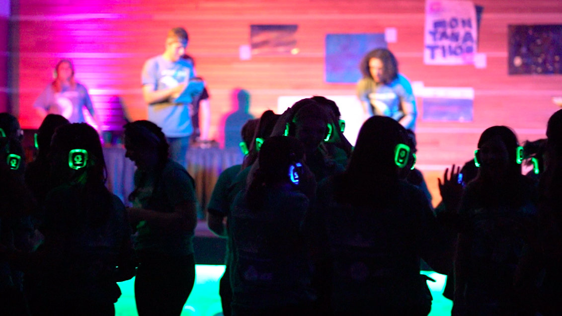 The silent disco at last year's dance marathon