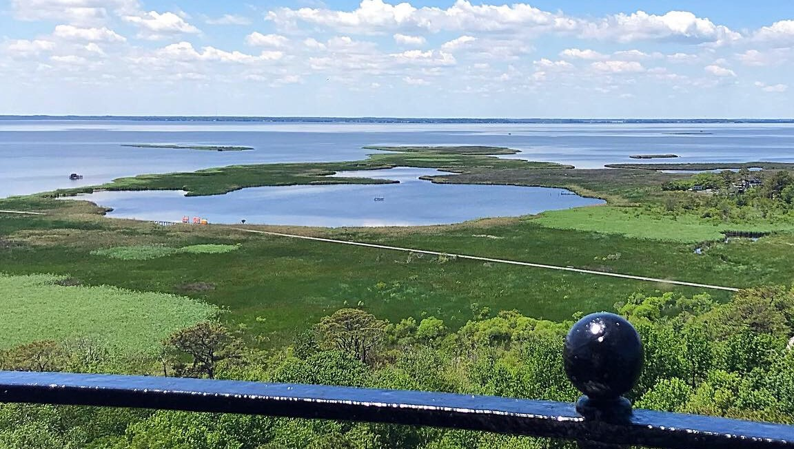 View from the top of Currituck Lighthouse.