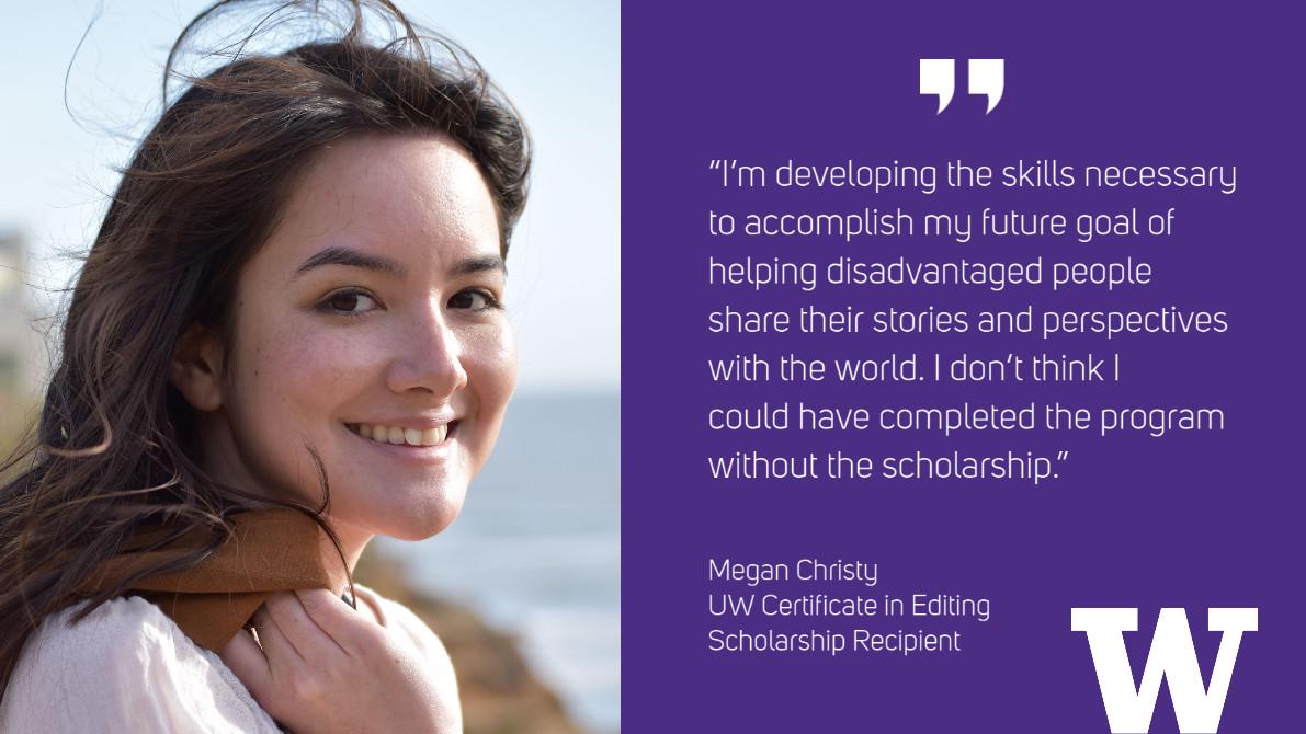 Megan Christy: UW Certificate in Editing