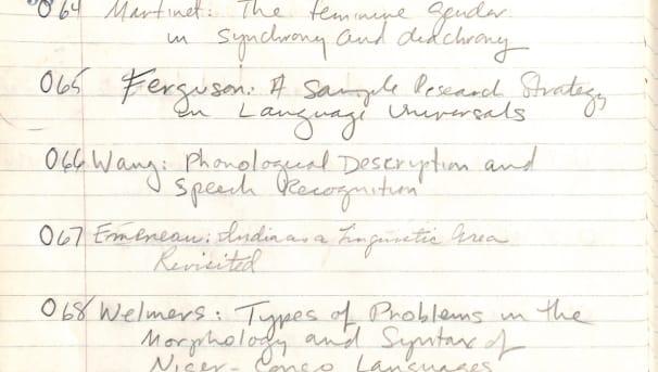 Preserving Linguistics Lectures Image