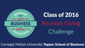 Tepper School Class of 2016 Reunion Challenge