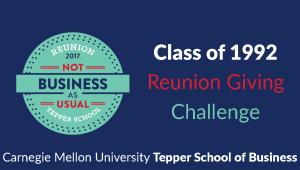 Tepper School Class of 1992 Reunion Challenge