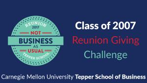 Tepper School Class of 2007 Reunion Challenge