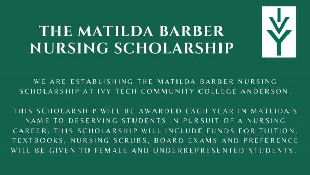 Matilda Barber Nursing Scholarship
