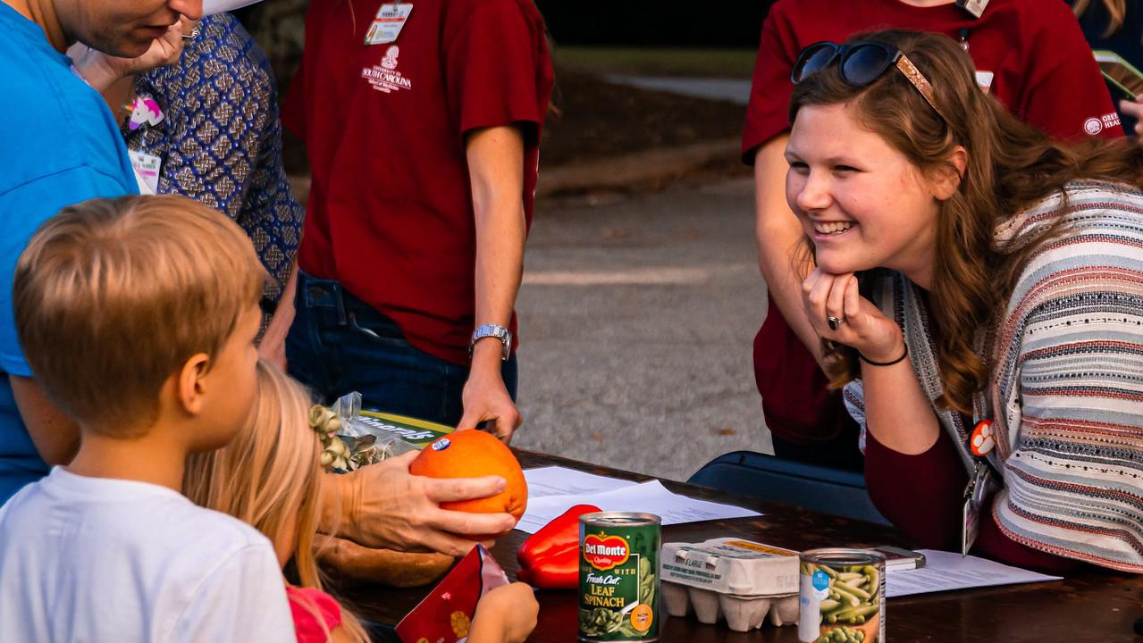 School of Medicine Greenville students at community food fair