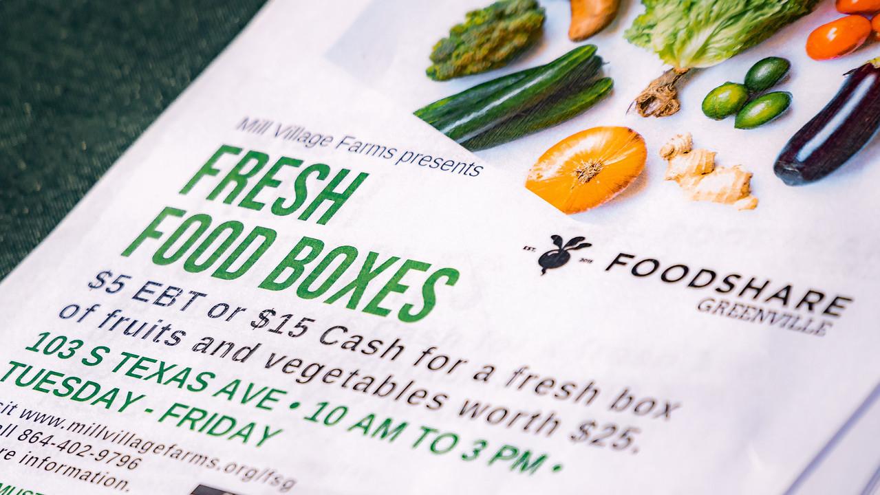 Foodshare Greenville flyer
