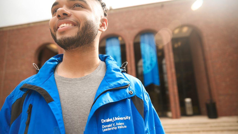 DVALI blue jacket close up