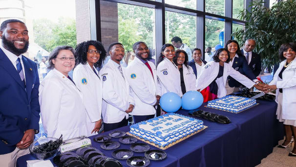 Blue and White Coat Ceremony and Pinning Image