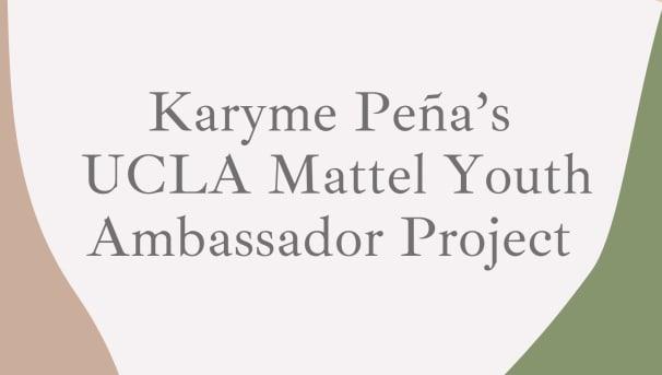 Karyme's Mattel Youth Ambassador Project Image